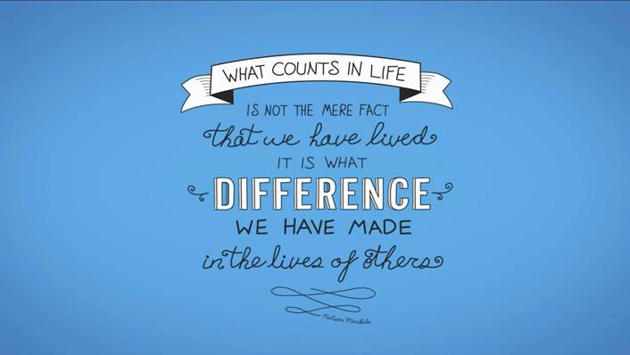 What counts in life